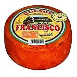 Queso de Cabra Curado al Pimentón - Queso Extremeño - Elaborado con leche pasteurizada de Cabra - Peso Aproximado 800 gramos - Madurado De 45 días a 2 meses, con Pimentón de la Vera.