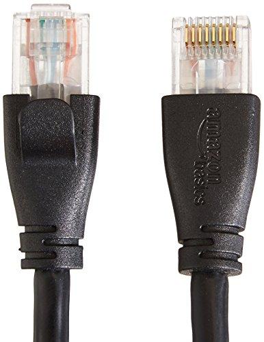 TP-Link TL-SG105 5-Port Gigabit Netzwerk Switch (bis 2000 MBit/s, 10/100/1000Mbp, geschirmte RJ-45 Ports) blau metallic & Amazon BasicsEthernet-Netzwerkkabel, RJ45, Cat6, 1,5 m, 1.000Mbit/s