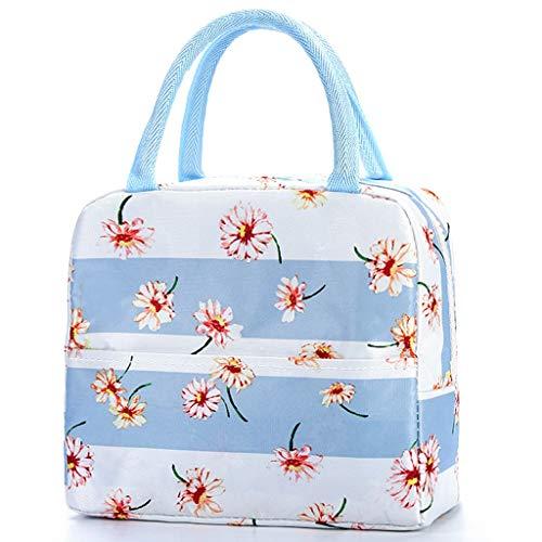 Einfache Gedruckte Wasserdichte Oxford Unisex Lunch Bag Outdoor Stilvoll Picknicktasche(D)