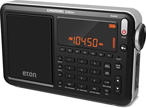 Eton Grundig Satellit AM / FM / Aircraft / SSB / Shortwave Radio with RDS, Black, NGWSATB