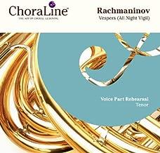 Rachmaninov Vespers (All Night Vigil) Double CD TENOR Rehearsal CD