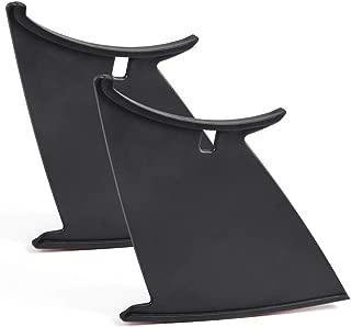 2 PCS Spoiler Wings Stiffi Support Stabilizer for Subaru Impreza WRX STi 2011-2014 Black