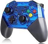 Controller für Switch Pro, REDSTORM Wireless Switch Controller mit hervorragender Vibration, drahtlose Verbindung bis zu 8 Meter für Nintendo Switch, blau und schwarz