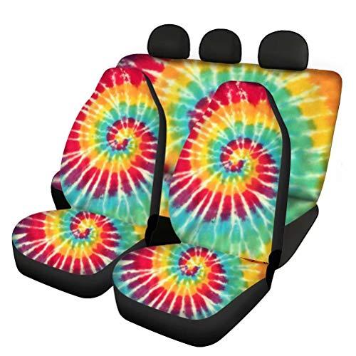 chaqlin - Juego de 4 fundas para asiento de coche, protector para asiento de coche delantero trasero y trasero, ajuste universal para la mayoría de coches, SUV Sedan