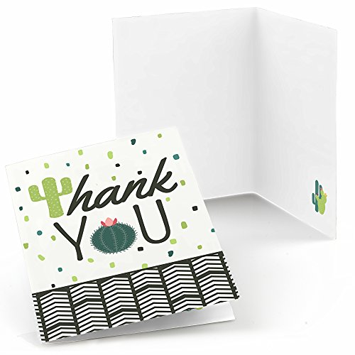 Big Dot of Happiness Prickly Cactus Party - Fiesta Party Thank You Cards (8 Count)
