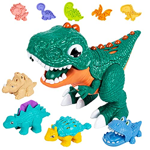 Dinosaur Playdough Sets for Toddlers,Play Dough Tool Kit for Kids,36 Pcs Playdough Accessories Dinosaur Playset Toys for Kids 3-5 (24 Pack Playdough)