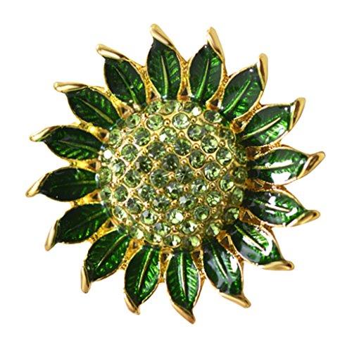 Bhuuno Vestido de dama de honra verde escuro design broche de casamento decoração artística