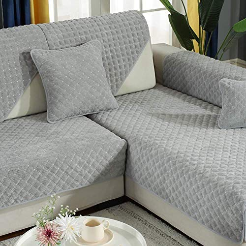 J-Kissen Couch Cover, L-Form Sofa-Abdeckung, sectinal Plüsch Sofa Slipcover, for 3 Kissen Couch, for Hunde, Liebe Sitzverstell- Abdeckung (Color : C, Size : 90x160cm(35x63inch))
