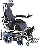 DBXOKK Sillas de Ruedas Silla de Ruedas eléctrica Inteligente Puede pararse Plana y Subir a la Silla de Ruedas para Personas Mayores discapacitadas para Viajar y Escalar