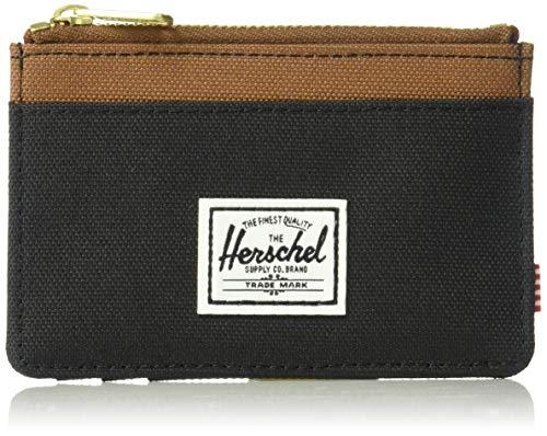 Herschel Herren Oscar RFID Kartenetui, schwarz/sattel braun, Einheitsgröße