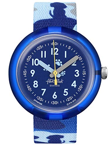 Flik Flak Unisex Analog Schweizer Quarz Uhr mit Textil Armband FPNP058