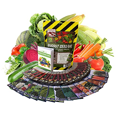 22,000 Non GMO Heirloom Vegetable Seeds, Survival Garden, Emergency Seed Vault, 34 VAR, Bug Out Bag...