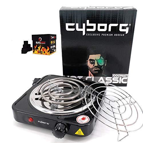 CYBORG Hot Classic Kohleanzünder 1000W inklusive Kohlegitter + 1KG Blackcoco´s