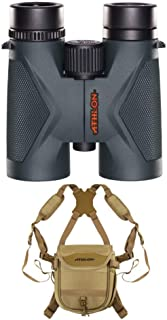 Athlon Optics MIDAS 8x42 Binoculars, Roof Prism, with Harness  | ED Glass | Argon Purged | Excellent Clarity and Color