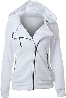 Energy Womens Fleece Casual Hoodie Solid Long Sleeve Pocket Zipper Coat Jacket