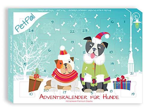 PetPäl Hunde Adventskalender 2020 - DIE leckersten Snack & Leckerlis für deinen Hund zu Weihnachten - Gesunde Leckerlies zum Advent - Getreide- & Glutenfrei - Ohne Zucker & Künstliche Farbstoffe