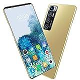 HYDL Smartphone 6+128GB, Teléfono Móvil 5.5' HD, cámara Triple de 24MP+32MP, 5600 mAh, Android 10 Octa-Core Smartphone Libre, Smartphone Barato Dual SIM, Face ID,Oro