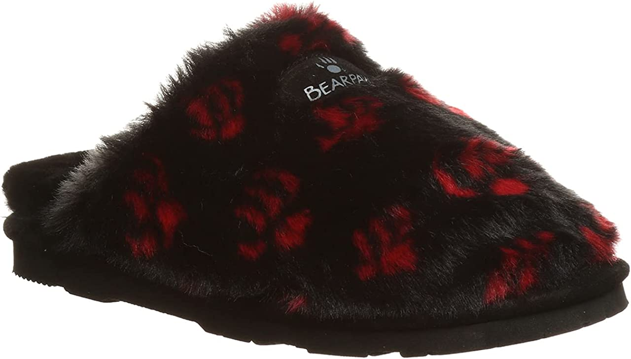 BEARPAW Women's Sage Black Slipper