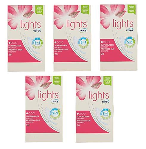 5 x Tena Slip Lights Protection discret 28 pièces