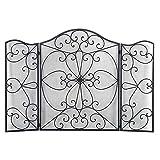 Puertas para Chimeneas Pantalla retro Chimenea Pantalla de hierro forjado Pantalla de chimenea Pantalla de flores Material de la chimenea para el hogar Pantalla de chimenea de diseño simple
