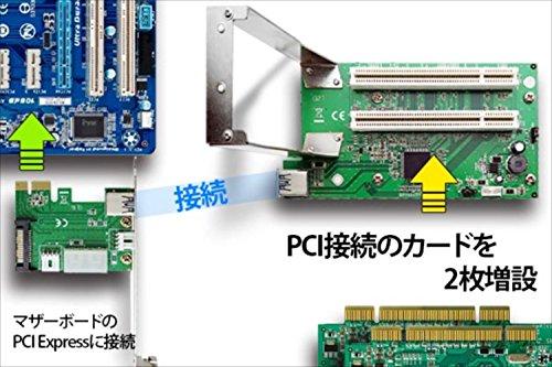 『エアリア 拡張ボードの旧世主 第二章 PCI Express x1 PCI 2スロット 変換 ライザーカード 33MHz 66MHz 5V 3.3V SD-PECPCiRi2』の2枚目の画像