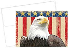 """Great Papers! Patriotic Foil Thank You Note Card and Envelope, 4.875"""" x 3.375"""", 20 count Express your gratitude in style with Great Papers! gold foil patriotic note cards Inside is blank for your own personal message"""