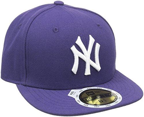 New Era Kinder Baseball Mütze Mlb Basic NY Yankees 59Fifty Fitted, Violett (Purple/White), 6 3/4, 10879079
