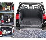Funda impermeable para el interior del coche (145 x 145 cm) color negro - Para el transporte de animales y materiales mws1756