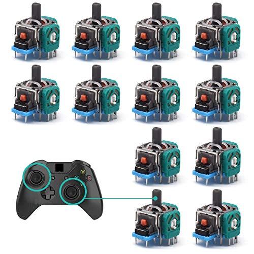 Ersatz-Analog-Joystick,RoadLoo 12-teiliger Wireless-Controller 3D-Daumen-Stick Wireless-Controller-Modul Sensor-Ersatzteile für PS4 Dualshock Controller Xbox