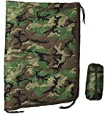USGI Industries Military Woobie Blanket - Thermal Insulated Camping Blanket, Poncho Liner – Large, Portable, Water-Resistant, for Hiking, Outdoor, Survival, Comes with Compression Carry Bag (Woodland)