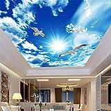 Tapeten Wandbilder,Blue Sky White Clouds Taube Natur