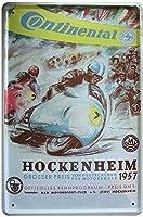 コンチネンタルホッケンハイムウォールメタルポスターレトロプラーク警告ブリキサインヴィンテージ鉄絵画装飾オフィスの寝室のリビングルームクラブのための面白いハンギングクラフト