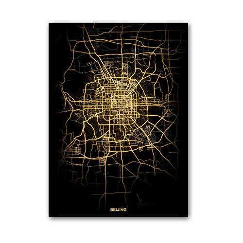 Beijing China Mapa De La Ciudad Rompecabezas Desafiante Juego Educativo Intelectual Descompresión Juguete,En Casa,Bloqueo,Regalo De Cumpleaños,Arte De La Pared,Bonito Conjunto De Regalos,1000Pcs