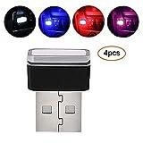 Pawaca Auto USB Beleuchtung, Auto Innenbeleuchtung Atmosphäre Licht Mini Wireless USB Universal LED...