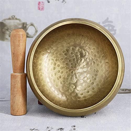 HYCy 3.2'-7.9' Juego de Cuenco Tibetano Grabado Personalizado con Luna Llena, Cuenco Tibetano Personalizado, Cuenco de meditación, Cuenco de Chakra, Cuenco curativo (12 cm)
