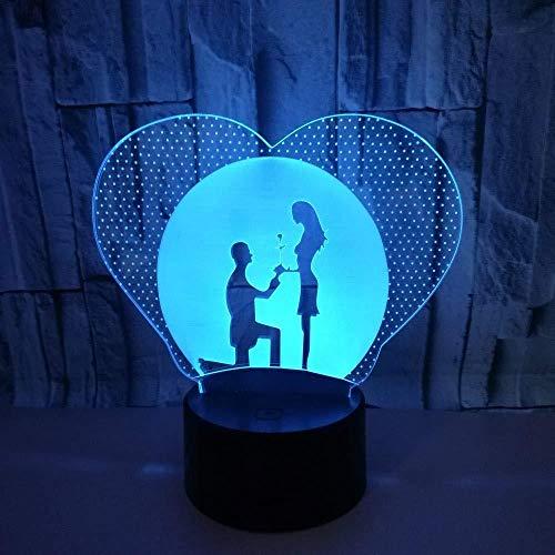 Niedlicher Schaf Cartoon 7 Farben 3D Visual Nightlight Acryl Tischlampe Led Cartoon Leuchte Kinder Geschenke Home Decor