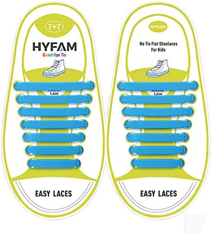 Hyfam No Tie Shoelaces for Kids Waterproof Silicone Tieless Flat Elastic Shoe Laces for Sneaker product image