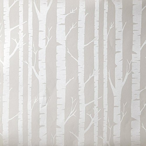 Papier Tapete Shabby Oh die die 66279099Position von Baumstämme Silber glänzend auf Boden taupe