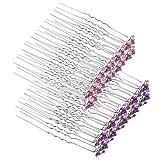 Opplei Faux Pearl Hair Pins Twisters Set de horquillas en forma de U para bodas, novias, bailes de graduación, fiestas y ocasiones especiales