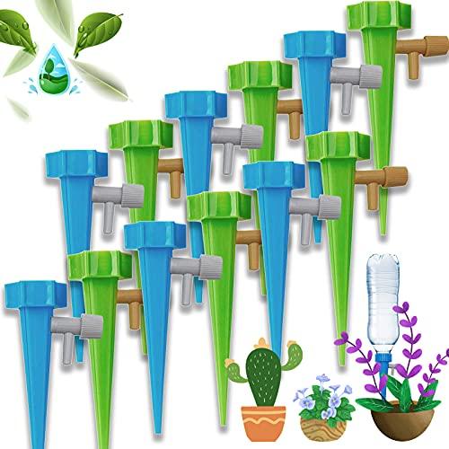 XINCHEN Systeme Arrosage Goutte Goutte 12 pièces Irrigation Goutte Goutte Kit Plante d'irrigation Cône pour Arrosage Bouteille dans Jardin, Balcon, Vacances, Intérieur et Extérieur