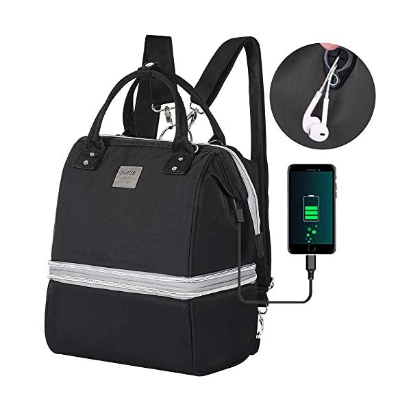 Breast Pump Bag,Diaper bag with Detachable Design Insulated Waterproof Could Used for Lunch Bag or Cooler bag Built-in USB Charging Port for Phone,Pump Bags for Working Mothers