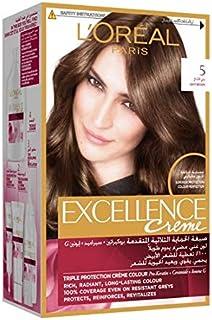 L'Oreal Paris Excellence Crème Permanent Hair Color, 5.0 Light Brown