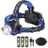 LED Rechargeable Headlamp Flashlight LBJD Super Bright Headlamps...