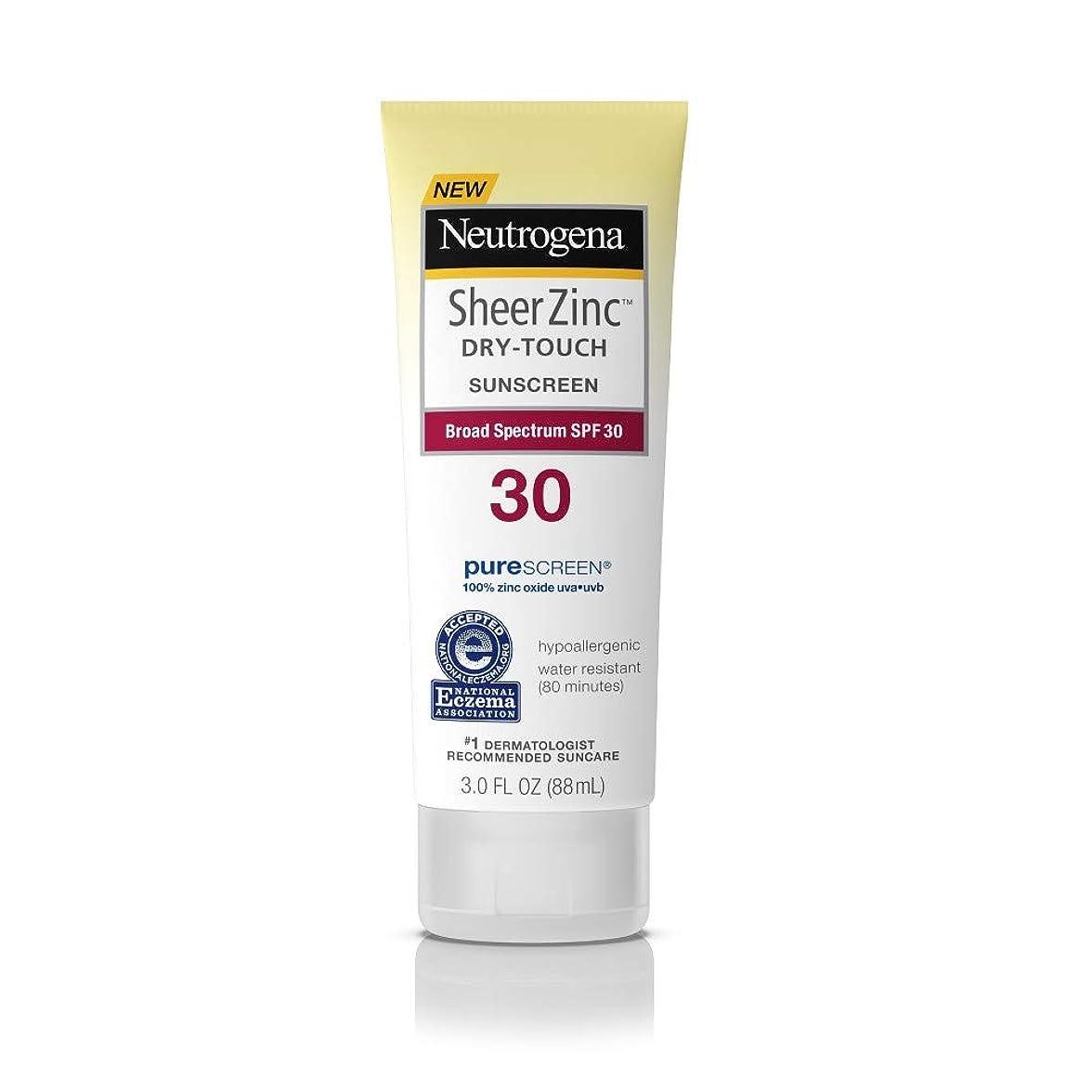 ステレオライムの頭の上Neutrogena シアー亜鉛ドライタッチSPF#30日焼け止め3オンス(88Ml)(3パック)