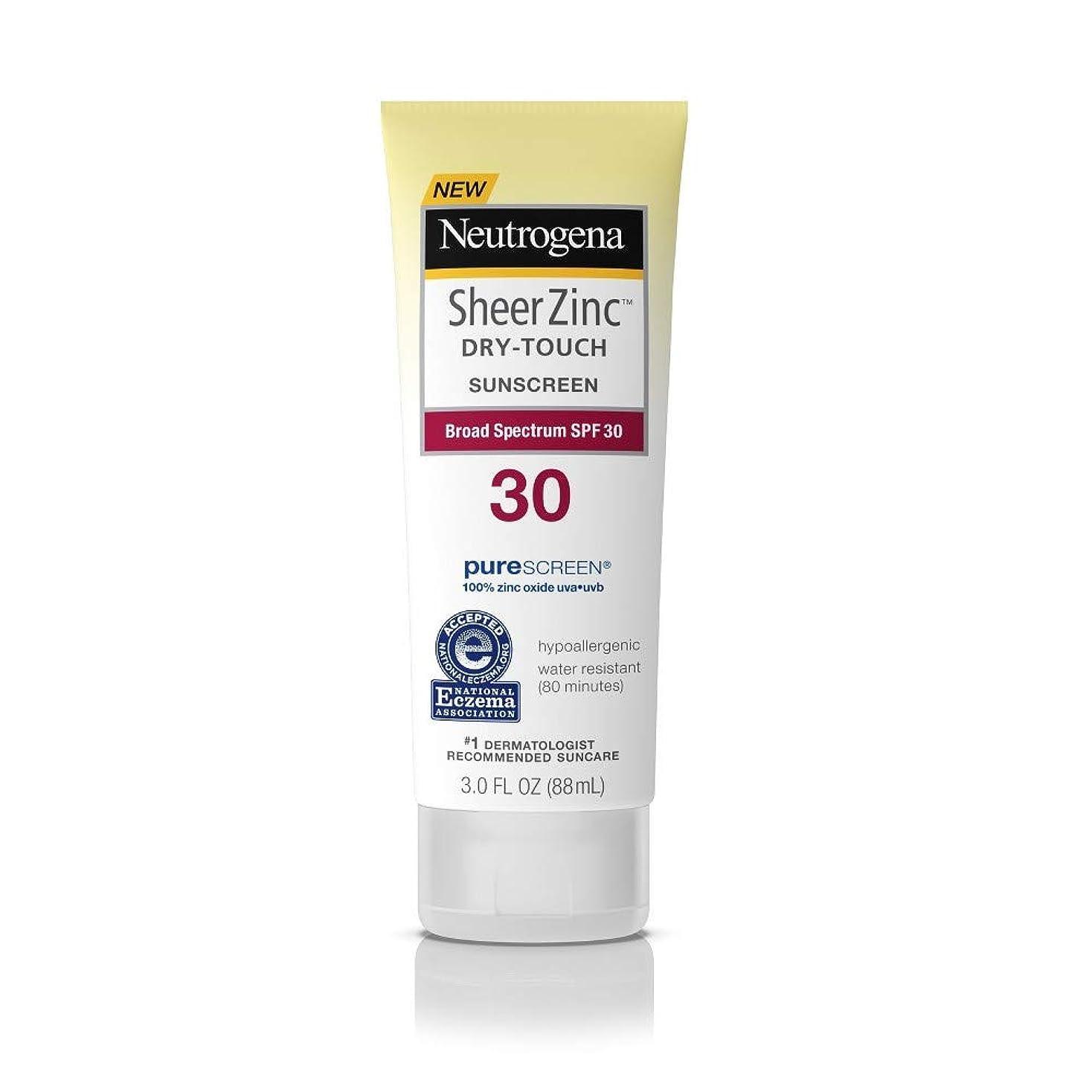 幸運な臭い励起Neutrogena シアー亜鉛ドライタッチSPF#30日焼け止め3オンス(88Ml)(3パック)