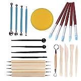 Anaysen 24 piezas Herramientas de Arcilla Set de herramientas de modelado Conjunto de Herramientas de Talla de Ceramica Polymer Clay Tools herramientas de cerámica para escultura manualidades