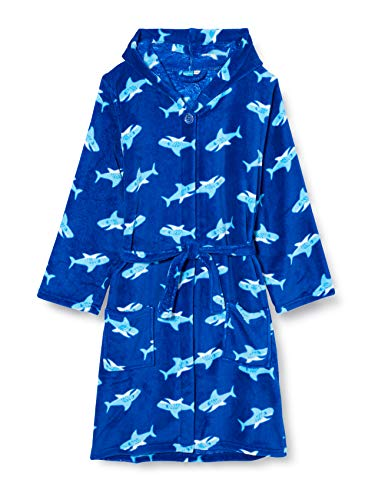 Playshoes Unisex Kinder Bademantel, Blau (original), 110/116