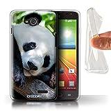 Stuff4 Phone Case for LG L90/D405 Wildlife Animals Panda