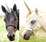 Professional photography prop Large unicorn horn with elastic straps for a pony or a full size horse 12' in length Bridle NOT included