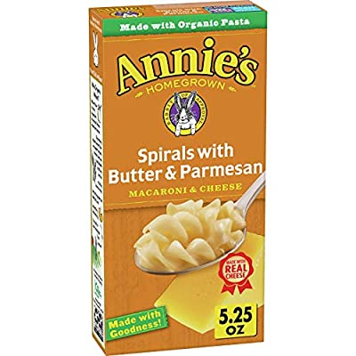 Annie's Spirals With Butter & Parmesan Macaroni and Cheese, Natural (Pack of 12)